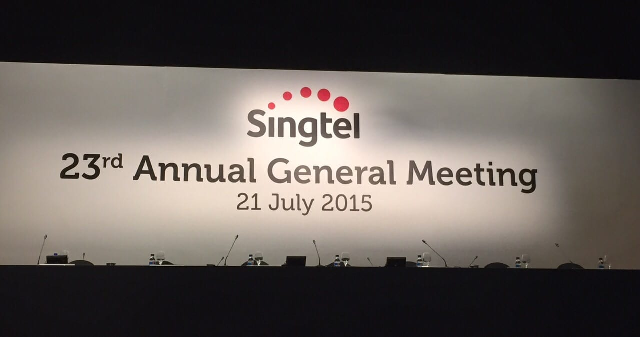 Photo of 10 Quick Things I Learned from Singtel's AGM 2015