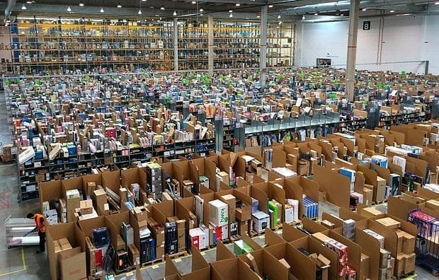 Amazon logistics centre in Madrid, Spain.
